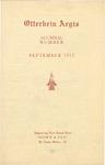 Otterbein Aegis September 1912 by Otterbein University