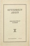 Otterbein Aegis November 1916 by Otterbein Aegis