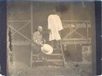 W. E. Riebel and native cook, Taiawa, Sierra Leone