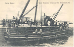 Royal Engineers working at the Government Pier, Sierra Leone
