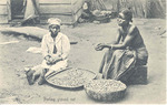 Peeling ground nut, Sierra Leone