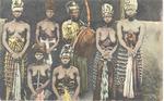 Kora player and six women, Sierra Leone