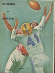 1961 Otterbein vs Ashland Football Program