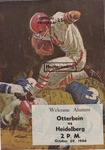 1966 Otterbein vs Heidelberg Football Program (Homecoming)