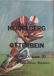 Heidelberg vs Otterbein 1965 Football Program by Otterbein College