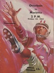 Otterbein vs Marietta 1965 Football Program (Homecoming) by Otterbein College