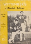 Wittenberg vs Otterbein 1965 Football Program by Otterbein College