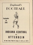 Indiana Central vs Otterbein 1965 Football Program