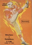 1964 Otterbein vs Heidelberg Football Program (Homecoming)