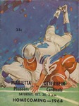 Marietta vs Otterbein 1964 Football Program by Otterbein College