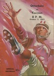 Otterbein vs Kenyon 1965 Football Program (Homecoming) by Otterbein College