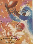 Baldwin-Wallace vs. Otterbein 1968 Football Program by Otterbein College