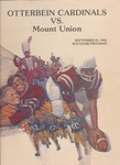 1982 Otterbein vs. Mount Union Football Program