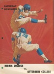 1968 Hiram College vs Otterbein College Football Program