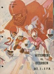 1971 Wittenberg vs Otterbein Football Program