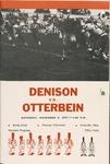 1971 Denison vs Otterbein Football Program by Otterbein College
