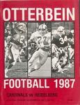 1987 Otterbein Cardinals vs Heidelberg Football Program by Otterbein College