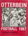 1987 Otterbein Cardinals vs Kenyon Football Program