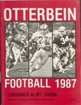 1987 Otterbein Cardinals vs Mt. Union Football Program