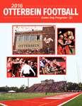 2016 Otterbein Football Game Day Program by Otterbein University