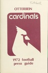 1972 Football Press Guide by Otterbein College