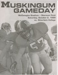 1999 Muskingum vs Otterbein Football Program by Otterbein College