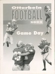 2003 Otterbein Football Game Day Program by Otterbein College