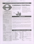 2013 Otterbein Football Game Notes