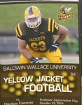 2014 Baldwin Wallace University vs Otterbein University Football Program by Otterbein University