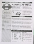 2014 Otterbein University Football Game Notes by Otterbein University
