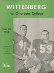 1963 Wittenberg vs. Otterbein Football Program by Otterbein College