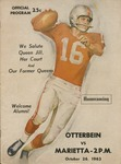 1963 Otterbein vs. Marietta Football Program
