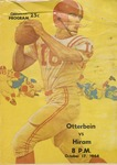 1964 Otterbein College vs. Hiram College Football Program by Otterbein University