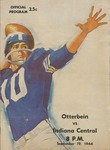 1964 Otterbein vs. Indiana Central Football Program by Otterbein College