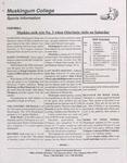 1999 Muskingum vs Otterbein Football Program by Otterbein University