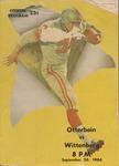 1964 Wittenberg vs Otterbein Football Program