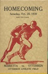 1930 Otterbein College vs Marietta College Football Program