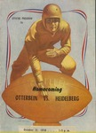 1950 Otterbein College vs Heidelberg University Football Program