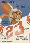 1955 Otterbein College vs Marietta College Football Program