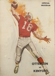 1962 Otterbein College vs Kenyon College Football Program by Otterbein University