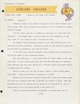 1969 Ashland College Athletics Statement