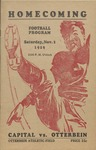 1929 Otterbein College vs Capital University Football Program
