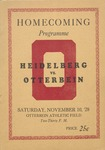 1928 Otterbein College vs Heidelberg University Football Program by Otterbein University