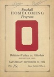 1927 Otterbein College vs Baldwin Wallace University Football Program