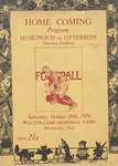 1926 Otterbein College vs Muskingum University Football Program by Otterbein University