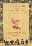 1926 Otterbein College vs Muskingum University Football Program