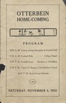 1922 Otterbein College vs Heidelberg University Football Program by Otterbein University