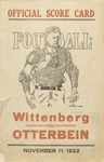 1922 Wittenberg University vs Otterbein College Football Program by Otterbein University