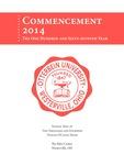 2014 Otterbein University Commencement Program by Otterbein University