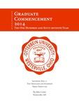 2014 Otterbein University Graduate Commencement Program by Otterbein University